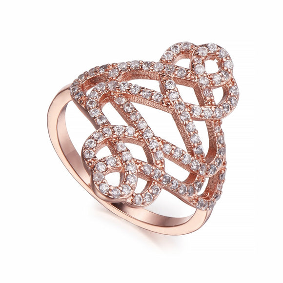 Rose Gold & Crystal Ring | Shira Designer Jewellery