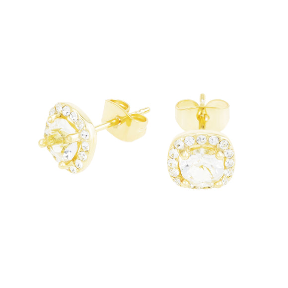 GOLD STUD WITH CRYSTAL