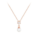 PEARL/ROSE GOLD NECKLACE