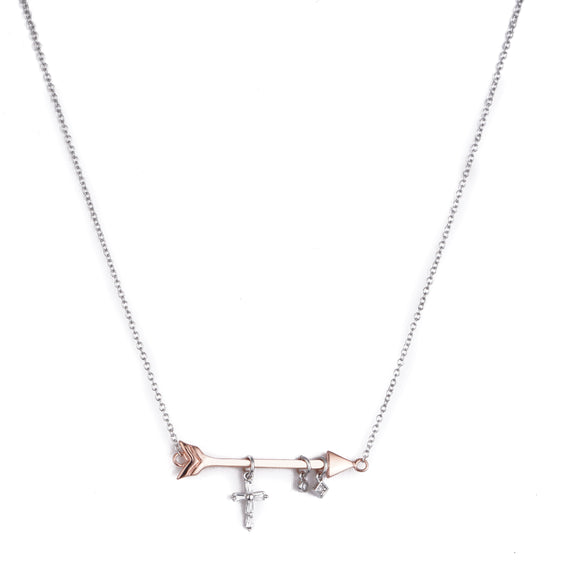 ROSE GOLD/ CRYSTAL NECKLACE