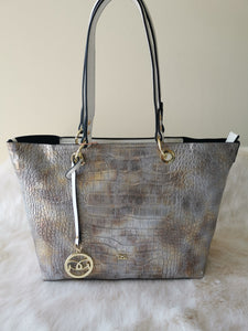 Gionni Akan Croc Textured Tote Bag | ${Vendor}