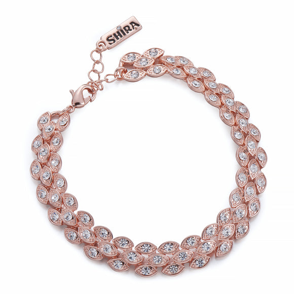 Rose Gold Rope Effect Bracelet | ${Vendor}