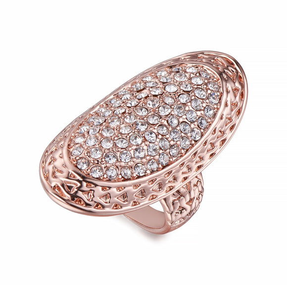 Rose Gold Ring with inset crystals | Shira Designer Jewellery
