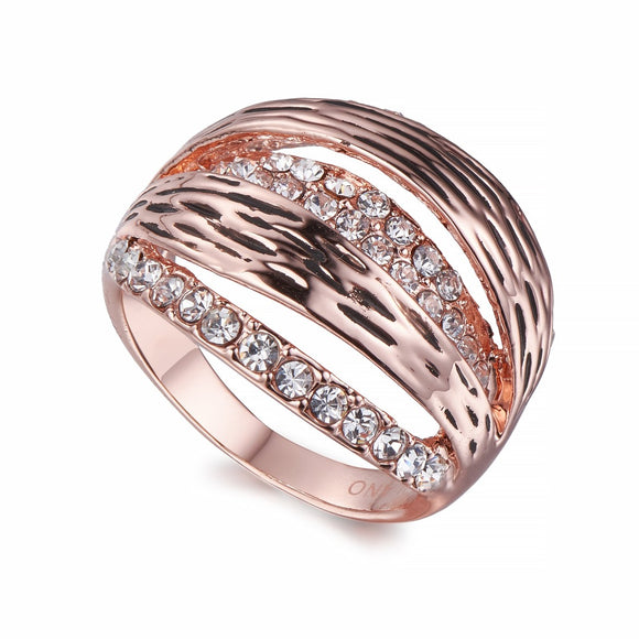 Split Band Ring In Rose Gold