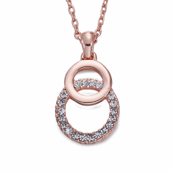 Rose Gold Circle Pendant Necklace | ${Vendor}