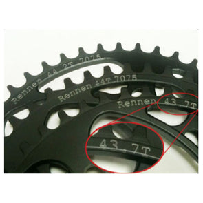 Rennen | 4 Bolt DECIMAL GEARING Chainring (Non-Threaded)