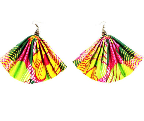 Handcrafted African Wax Print Fashion Earrings