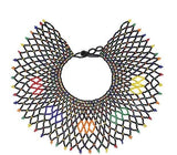 Handcrafted Beaded Fashion Statement Necklace