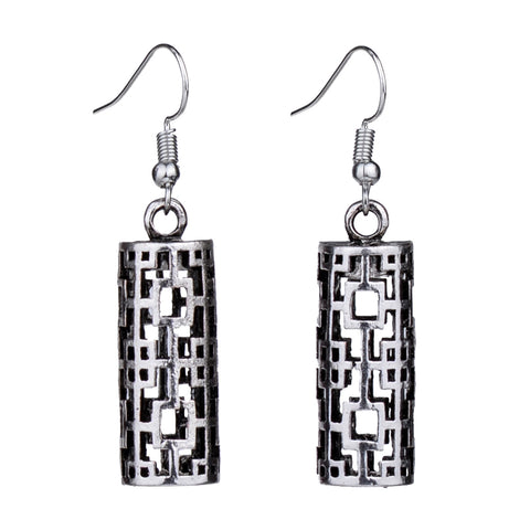 Silver Geometric shape earrings