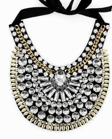 Crystal Costume Fashion Necklace Statement