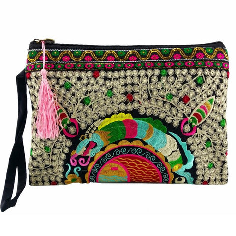Indian Print Clutch Handbag