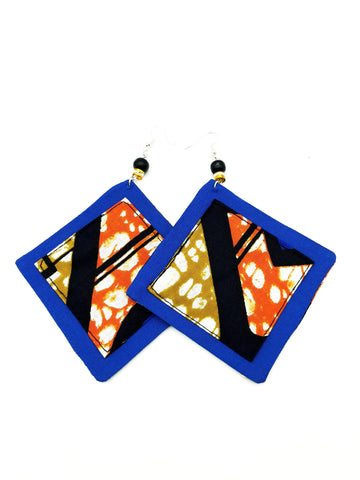 African Print Statement Earrings