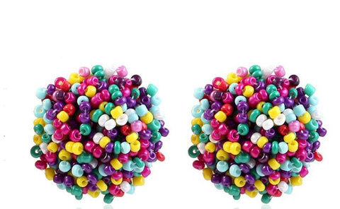Bead Fashion Statement Earrings