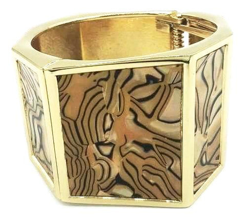 Black and Gold Bangle Bracelet