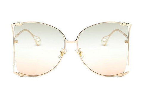 Clear and Pearl Sunglasses