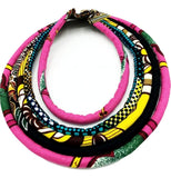 African Print Statement Necklace