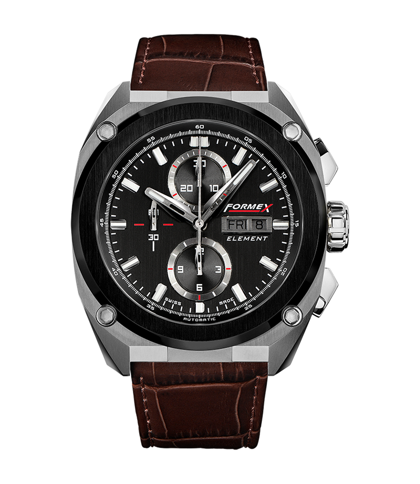 Automatic Chronograph Ceramic Bezel Black