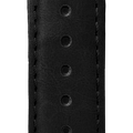 "ESSENCE ""Deployant"" Black Leather Strap Black Stitching (without clasp)"