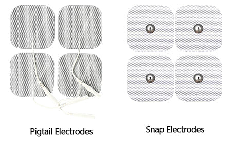 Pigtail and snap type electrode pads