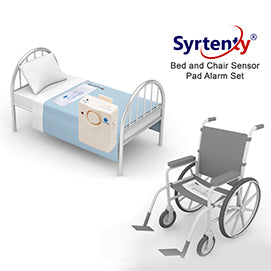 Syrtenty bed and chair fall prevention alarm set