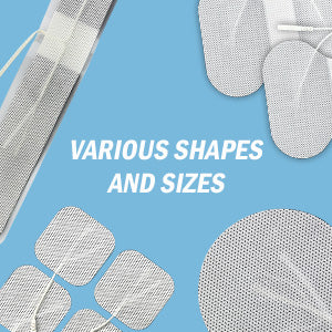 long strip square round and butterfly electrode pads