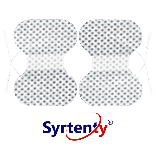 "Syrtenty-""TENS Unit Pads -  Pigtail Butterfly 4.5x6 inch 2pcs Electrodes"""