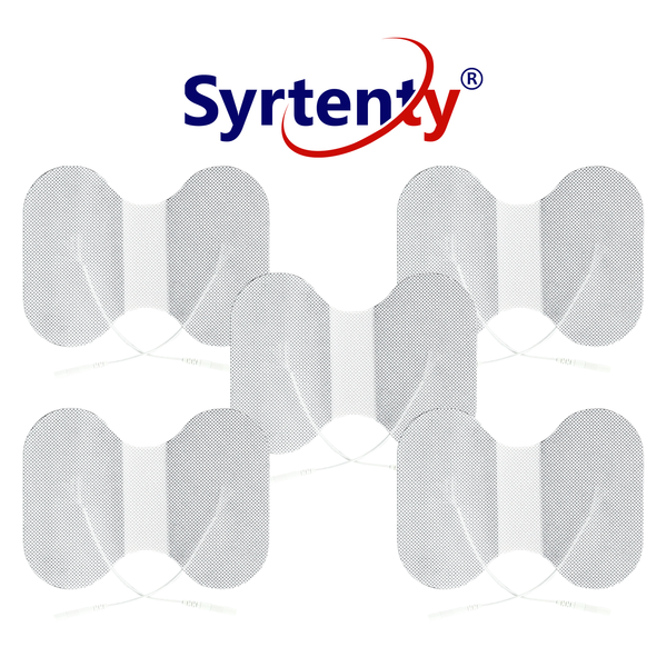 "Syrtenty-""TENS Unit Pads -  Pigtail Butterfly 4.5x6 inch 5pcs Electrodes"""