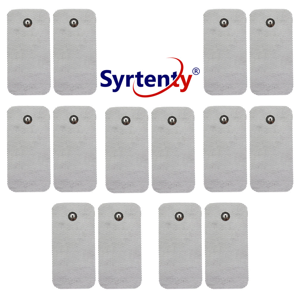 TENS Unit Pads -  Snap Rectangle 2x4 inch 12pcs Electrodes