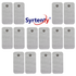 "Syrtenty-""TENS Unit Pads -  Snap Rectangle 2x4 inch 12pcs Electrodes"""