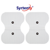 TENS Unit Pads -  Snap Butterfly 4.5x6 inch 2pcs Electrodes