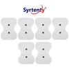 TENS Unit Pads -  Snap Butterfly 4.5x6 inch 6pcs Electrodes