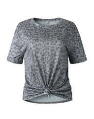 Grey Animal Print T-Shirt