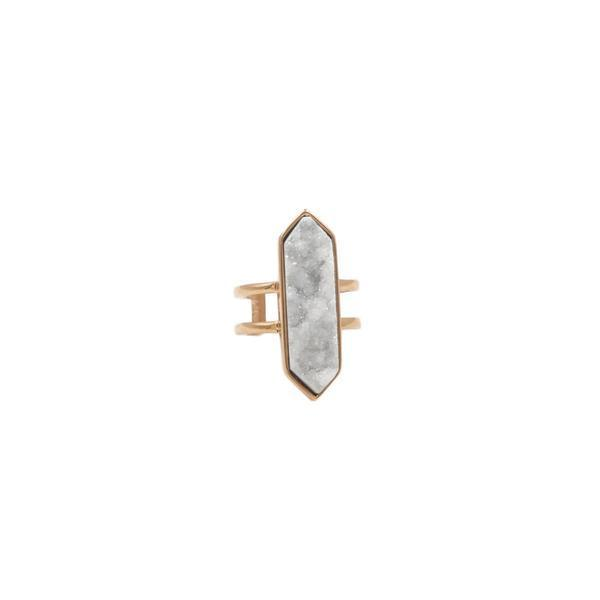 Kinsley Armelle/Bangle Collection/Manga Rose Gold Quartz Ring