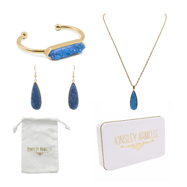 Kinsley Armelle/ DRUZY GOLD DENIM QUARTZ GIFT SET