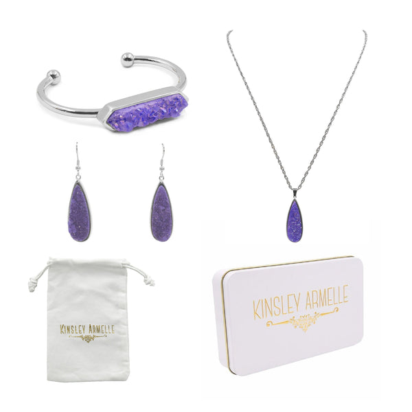 Kinsley Armelle/DRUZY SILVER ROYAL QUARTZ GIFT SET
