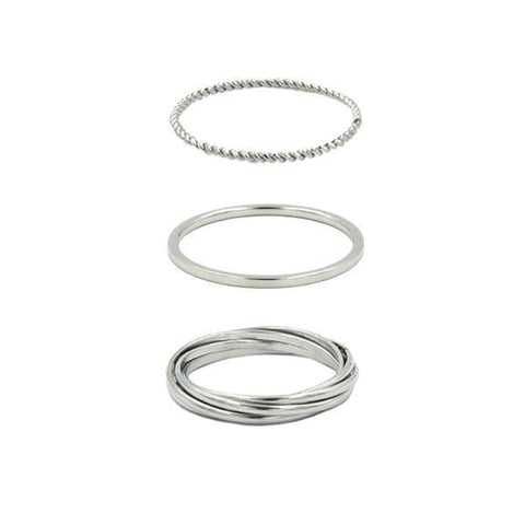 Kinsley Armelle/Goddess Collection/Silver Ring Set