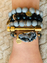 Kinsley Armelle/Eternity Collection /Coal Bracelet