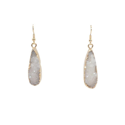 Kinsley Armelle/DRUZY COLLECTION/ICE DROP EARRINGS