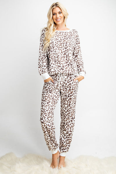 Animal Print Lounge Wear / Set