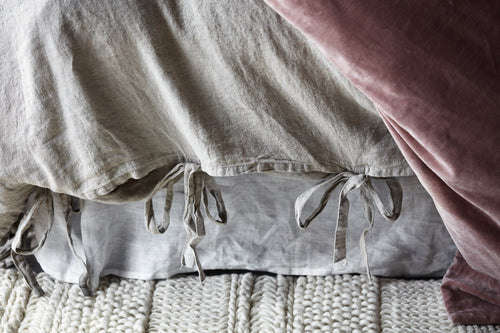 linen duvet set frayed edge tie closers natural by eadie lifestyle
