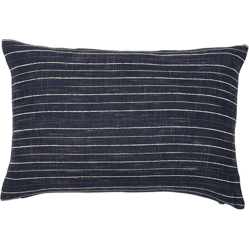 billow cushion cotton slub weave with white stripe feather insert by eadie lifestyle
