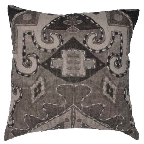 ekso cushion linen digital print plump feather insert by eadie lifestyle