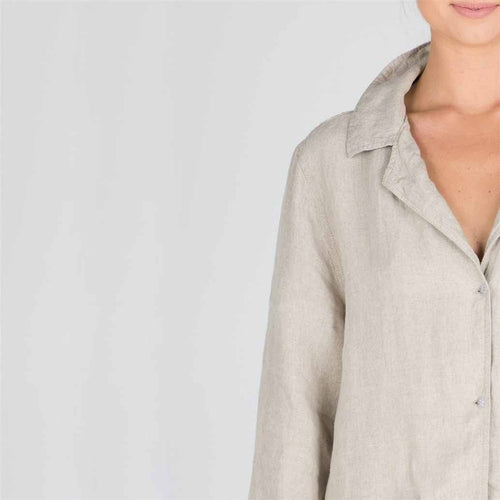 The Essential Linen Shirt - Natural - Eadie Lifestyle
