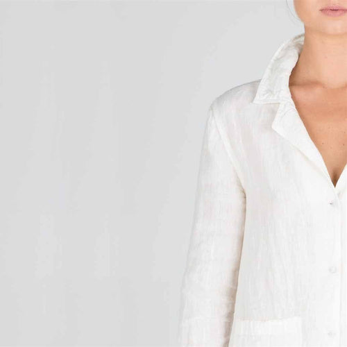 The Essential Linen Shirt - White - Eadie Lifestyle
