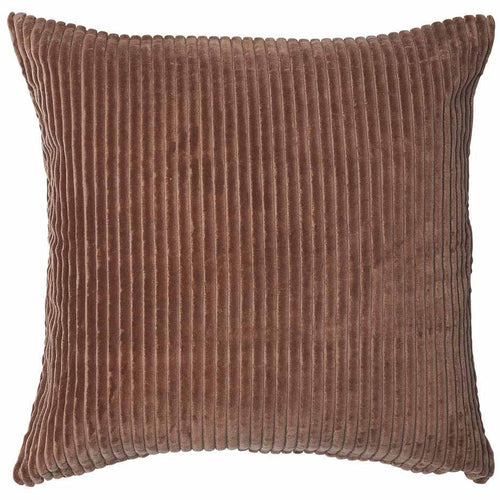 geant cushion cotton ribbed velvet finish plump feather insert desert rose by eadie lifestyle