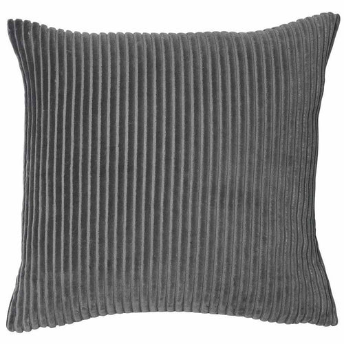 geant cushion cotton ribbed velvet finish plump feather insert slate by eadie lifestyle