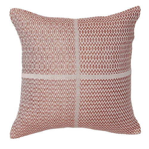 honning cushion cotton linen diamond zigzag finish plump feather insert rosetta by eadie lifestyle