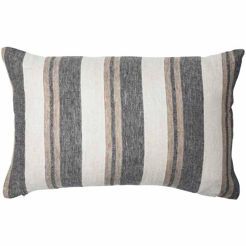 kerne cushion linen yarn dyed striped finish plump feather insert by eadie lifestyle