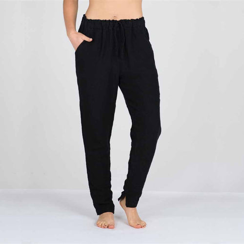 The Linen Pants - Black - Eadie Lifestyle
