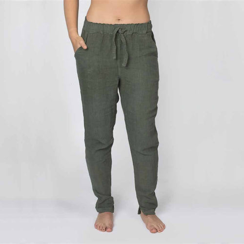 The Linen Pants - Khaki - Eadie Lifestyle